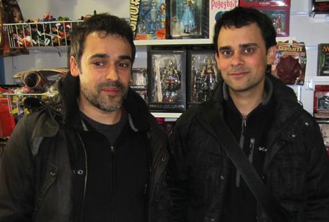 Iván Suárez e Inacio en Komic Librería