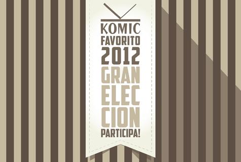 Komic Librería: Gran Elección Komic Favorito 2012