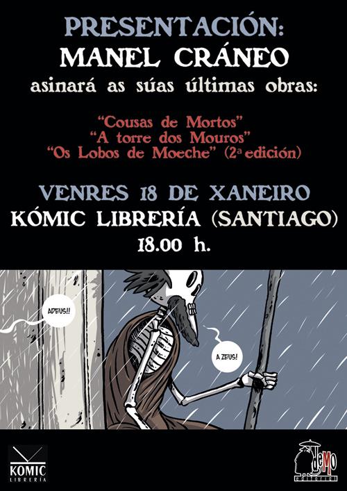 Komic Librería: Presentación de Cousas de mortos