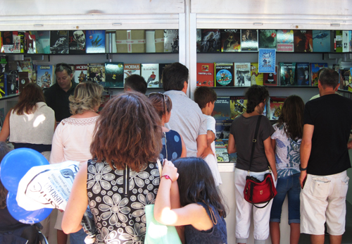 Caseta de Komic Librería na Feira do Libro de A Coruña