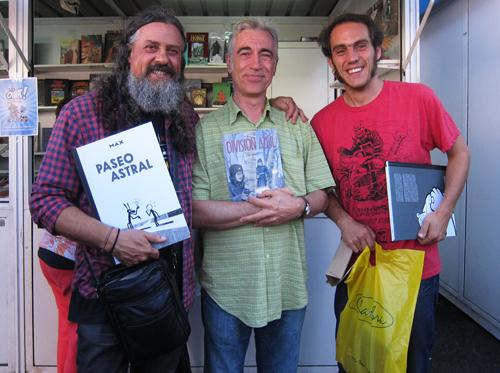 Max, Fran Jaraba e Xaime Lis