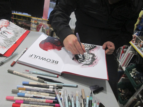 David Rubín presenta Beowulf en Komic Librería