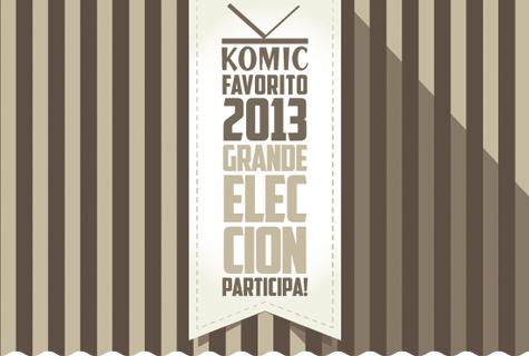 Komic Librería: Grande Elección Komic Favorito 2013