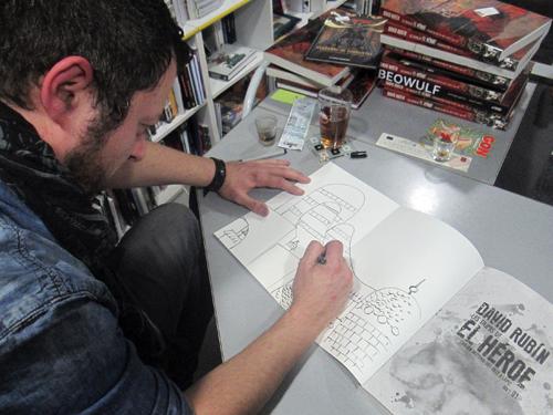 Presentación de Las Tripas del Héroe. Libro 1 en Komic Librería
