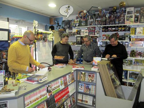 Andrés Meixide presenta Thom en Komic Librería