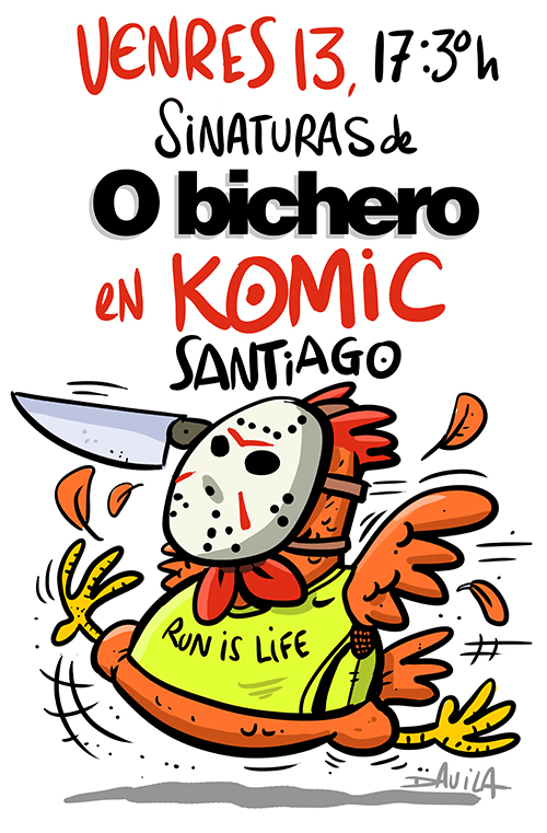 Luís Davila presenta O Bichero en Komic Librería