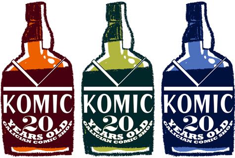 Logotipo conmemorativo do 20 Aniversario de Komic Librería