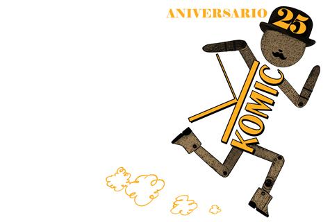 Logotipo conmemorativo do 25 Aniversario de Komic Librería