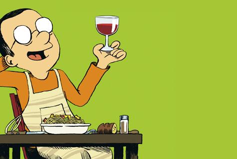 A comer y a beber (con las manos en la masa)