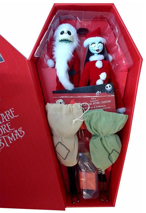 The Nightmare Before Christmas Coffin Dolls: Santa Jack & Sally