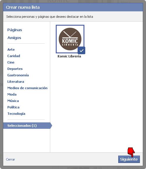 Komic Librería en Facebook