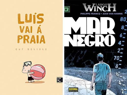 Komic Librería: Luís vai á praia, Largo Winch