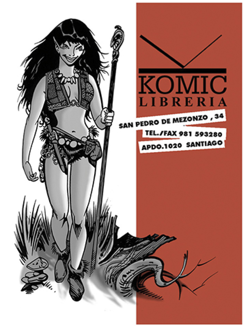 Fran Bueno: Adhesivos para Komic Librería