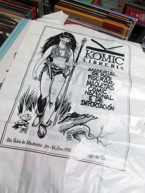 Fran Bueno: Bolsas para Komic Librería