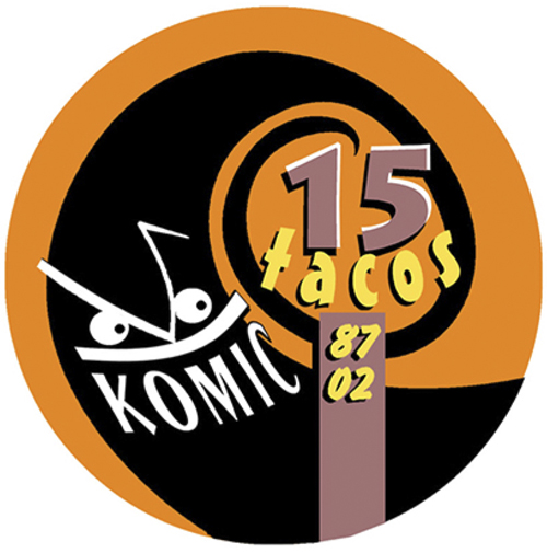 Fran Bueno: Logotipo 15 Aniversario de Komic Librería