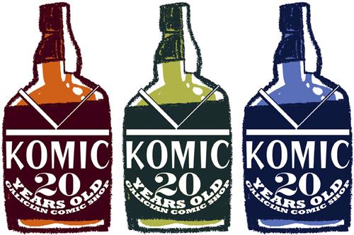 Fran Bueno: Logotipo 20 Aniversario de Komic Librería
