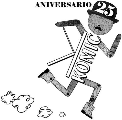 Fran Bueno: Logotipo 25 Aniversario de Komic Librería